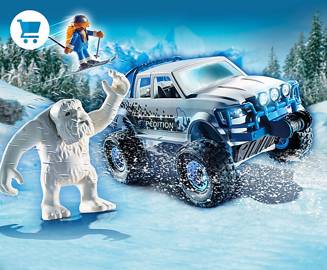 discover the new Playmobil Snow Beast 70532 with a truck and skis