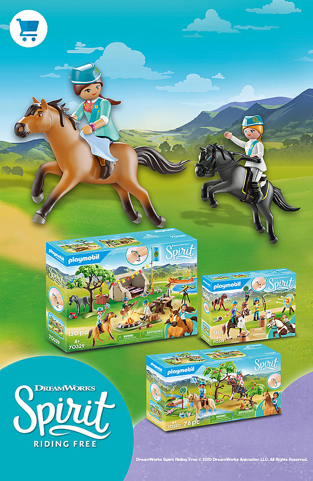 Follow Lucky and Spirit to the new summer camp and experience the great new adventures with Playmobil