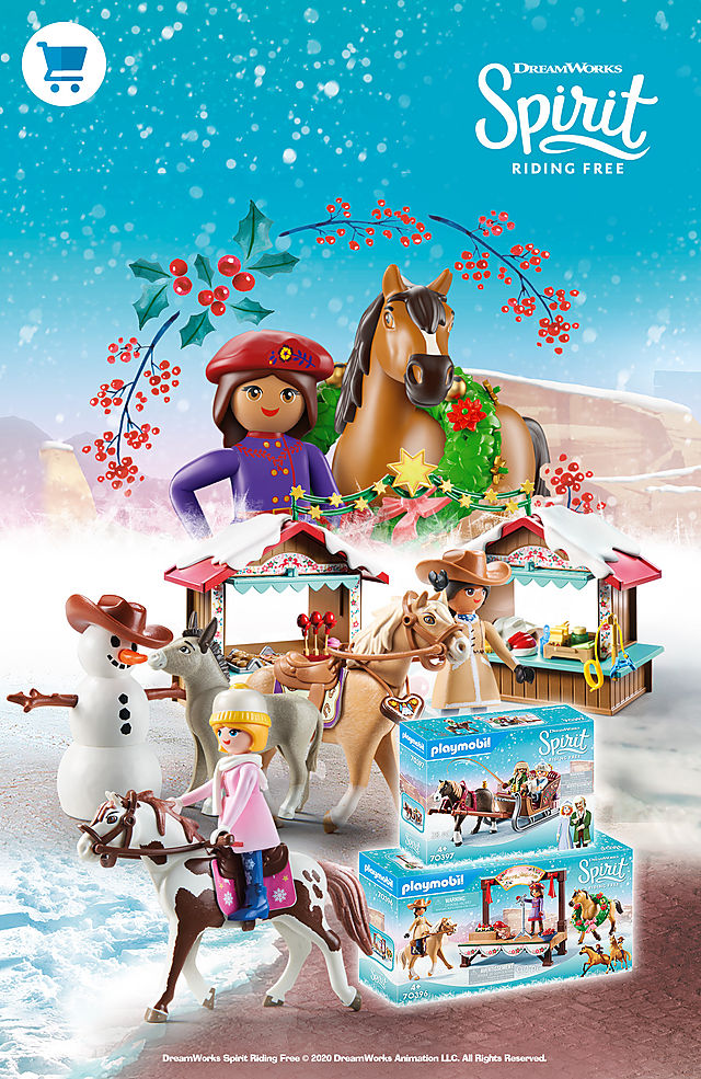 Discover the new play sets from Playmobil Spirit such as 70395 A Miradero Christmas or 70397 Winter Sleigh Ride