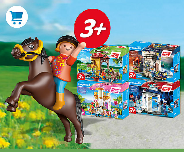 discover the new Playmobil Starter Packs like 70501 Starter Pack Horse Farm or 70499 Starter Pack Novelmore