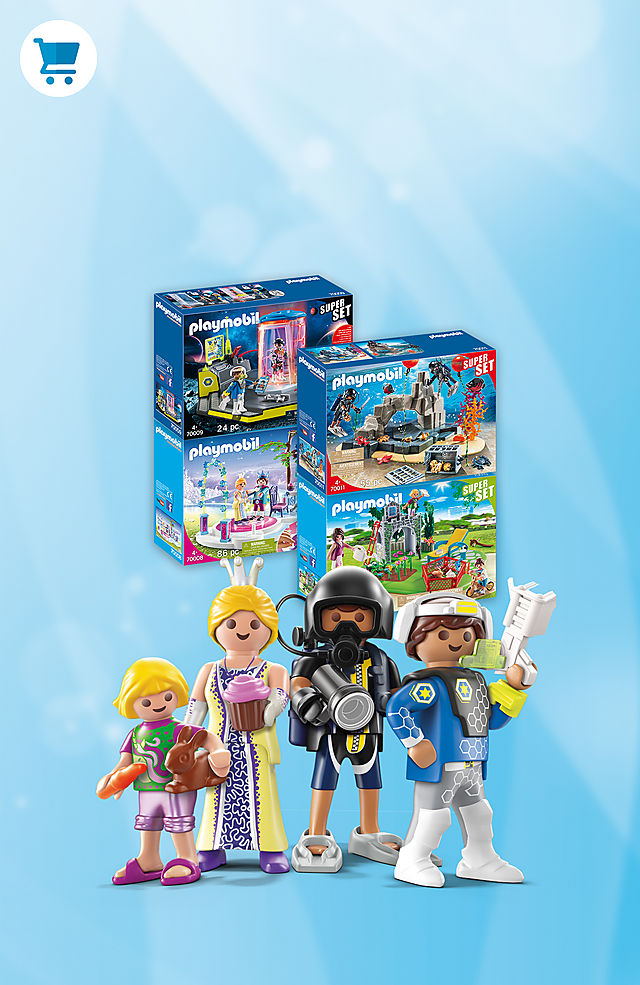 Discover all exciting worlds with new PLAYMOBIL SuperSets.