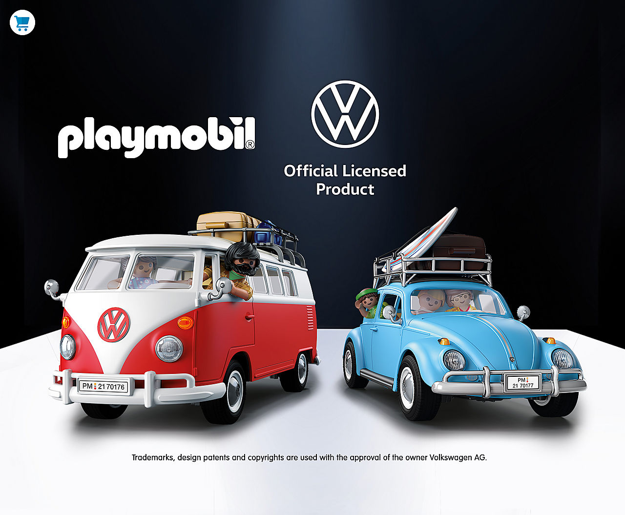 Discover the two new Playmobil Volkswagen - 70177 Volkswagen Beetle and 70176 Volkswagen T1 Camping Bus - shop now