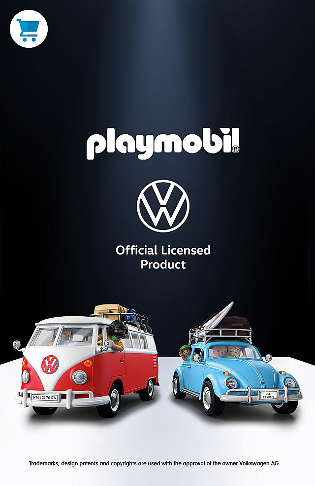 Discover the two new Playmobil Volkswagen 70177 Volkswagen Beetle and 70176 Volkswagen T1 Camping Bus - shop now