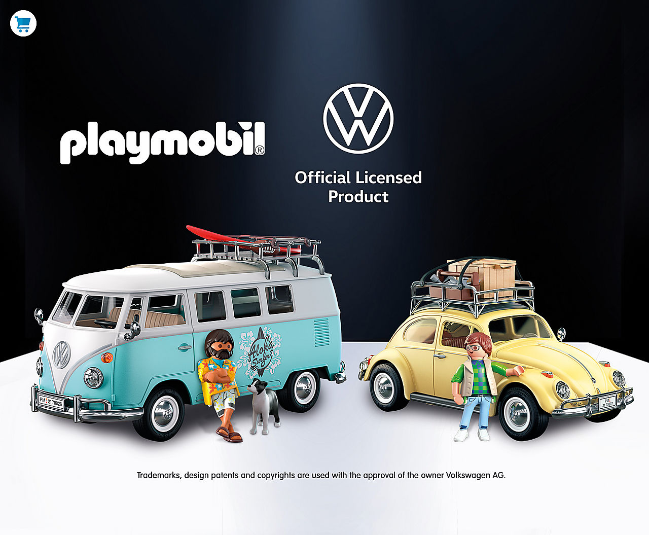 Check out the new PLAYMOBIL Volkswagen Limited Edition Collectibles with 70826 Volkswagen T1 Camping Bus - Special Edition and 70827 Volkswagen Beetle - Special Edition