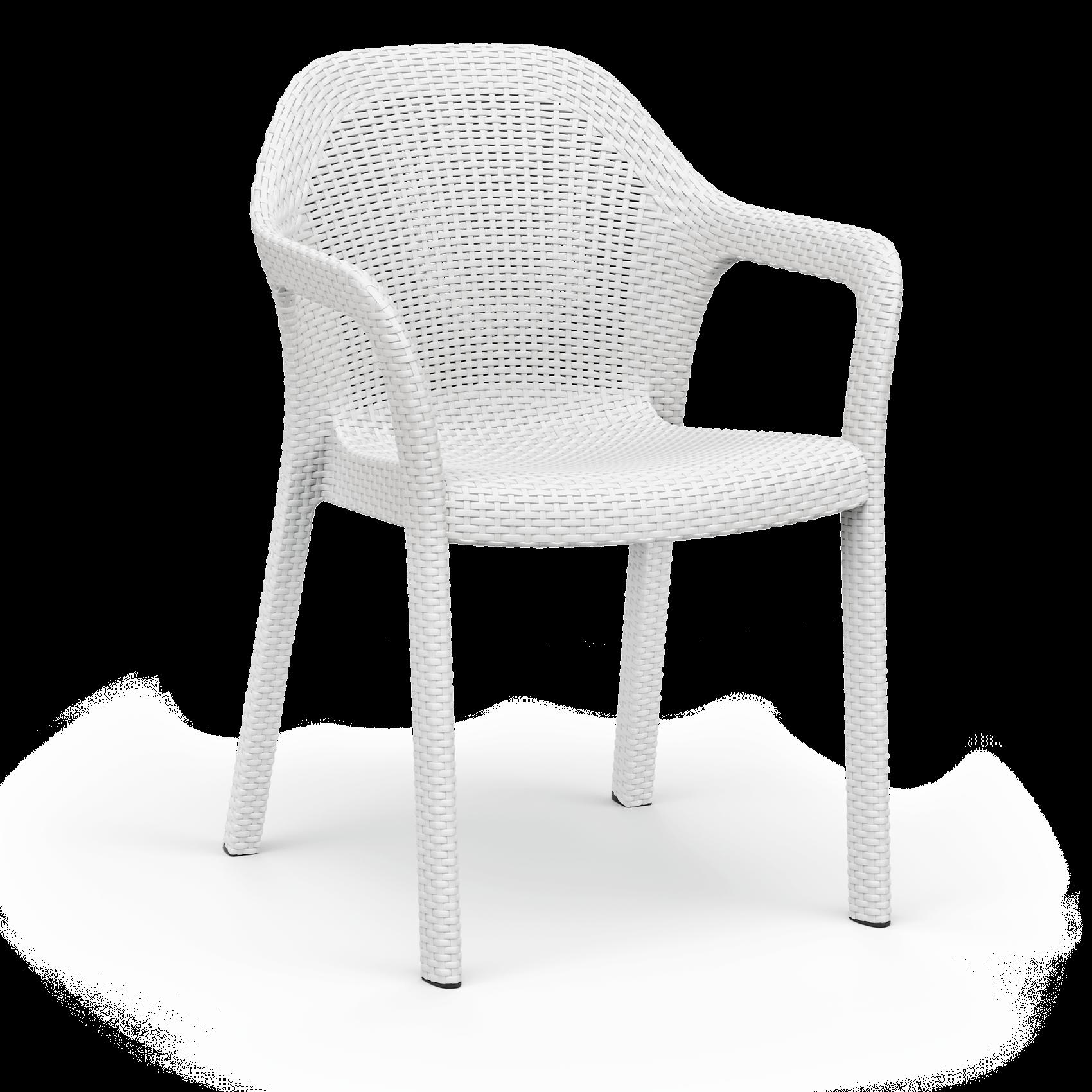 Stapelstuhl weiß
