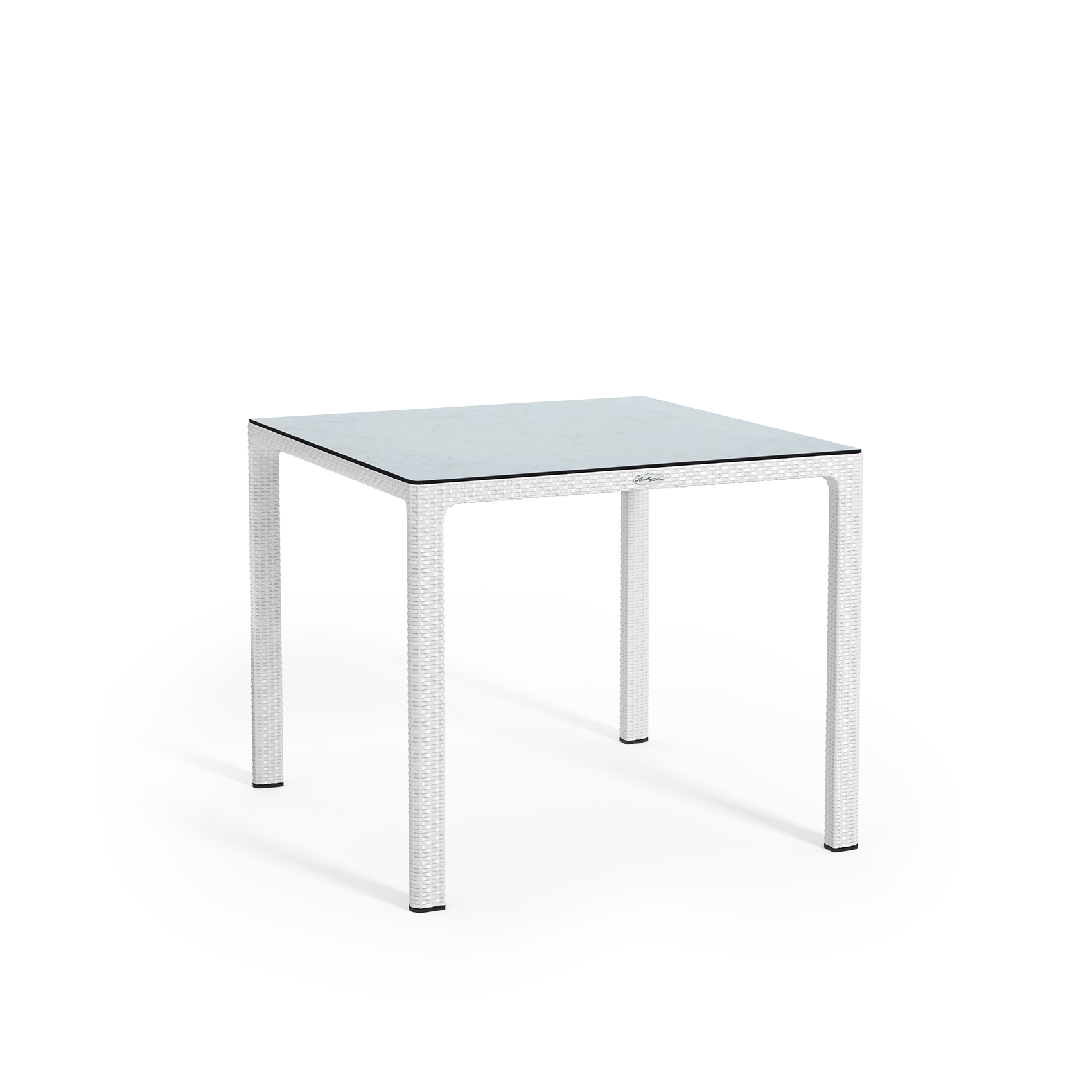 Small dining table with HPL tabletop white