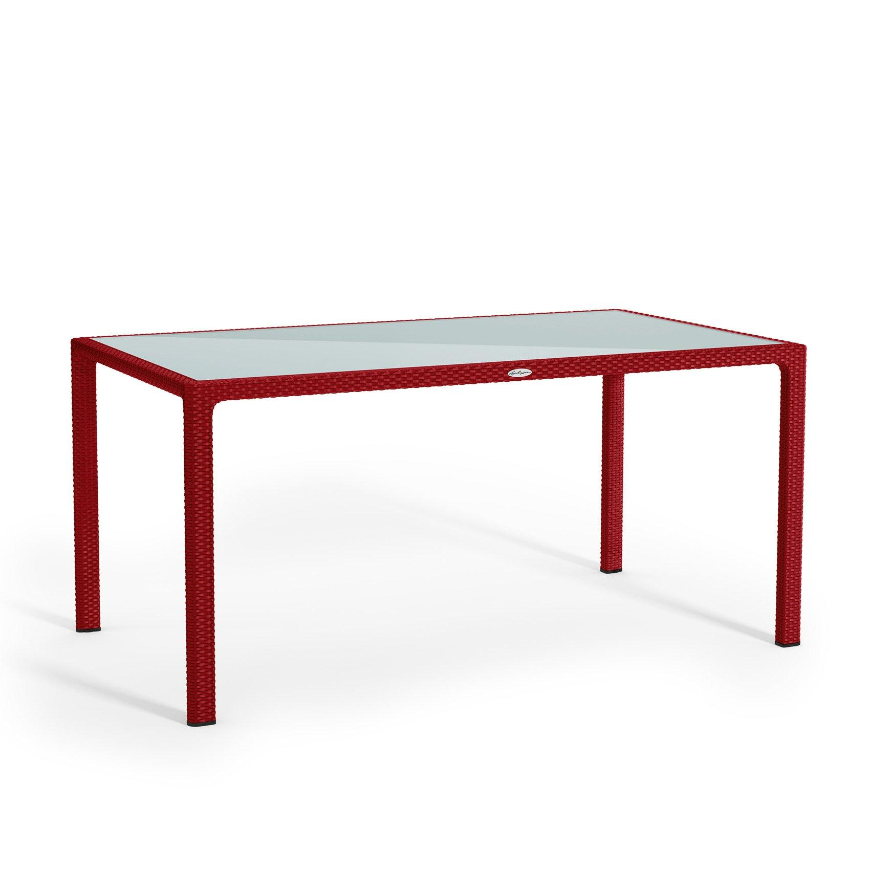 Large dining table scarlet red