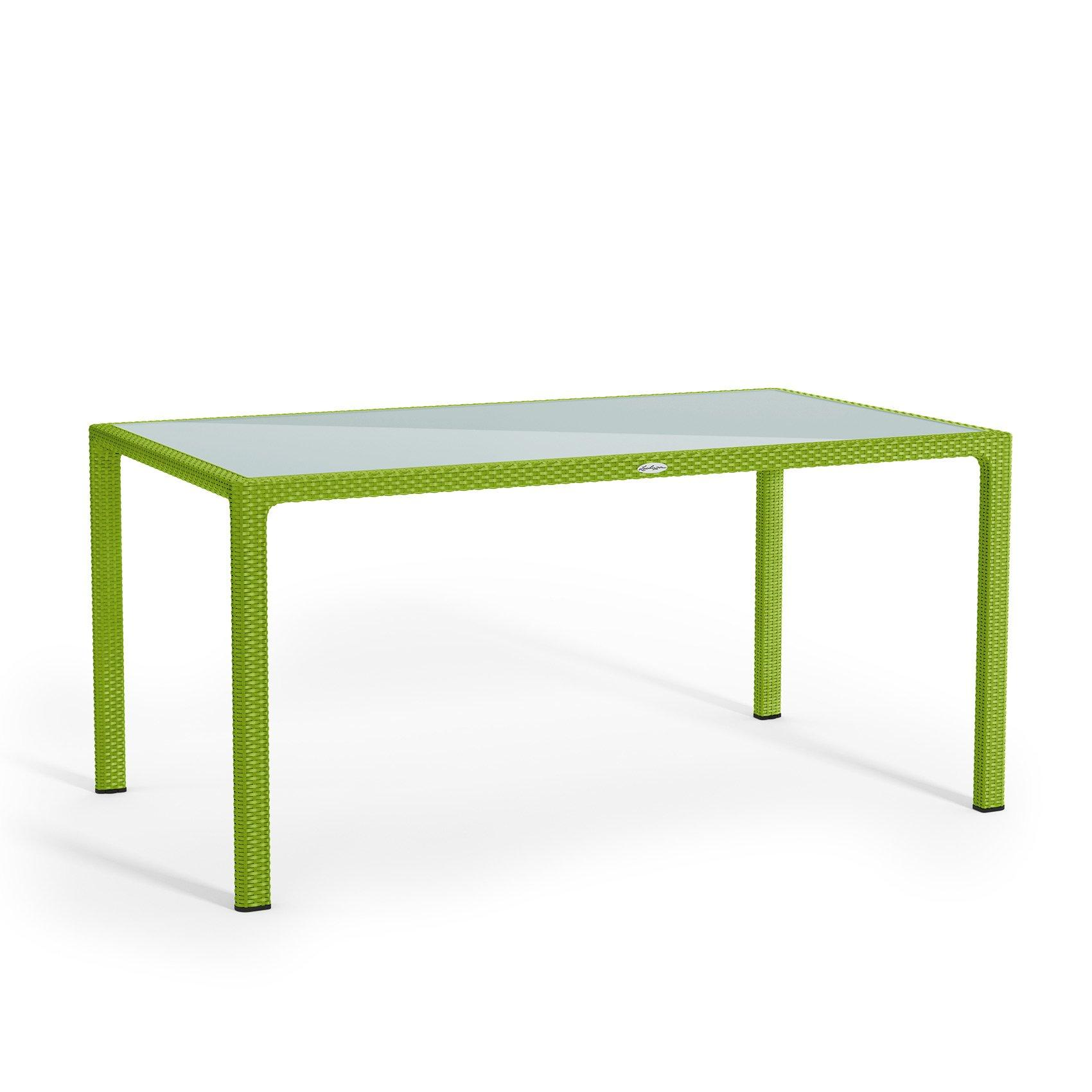 Large dining table apple green