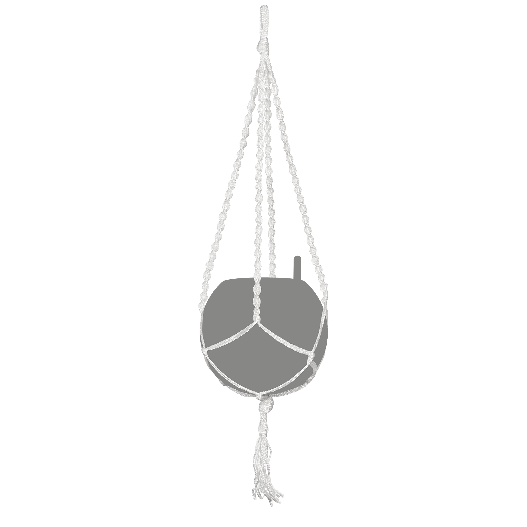 Macramé YULA blanc