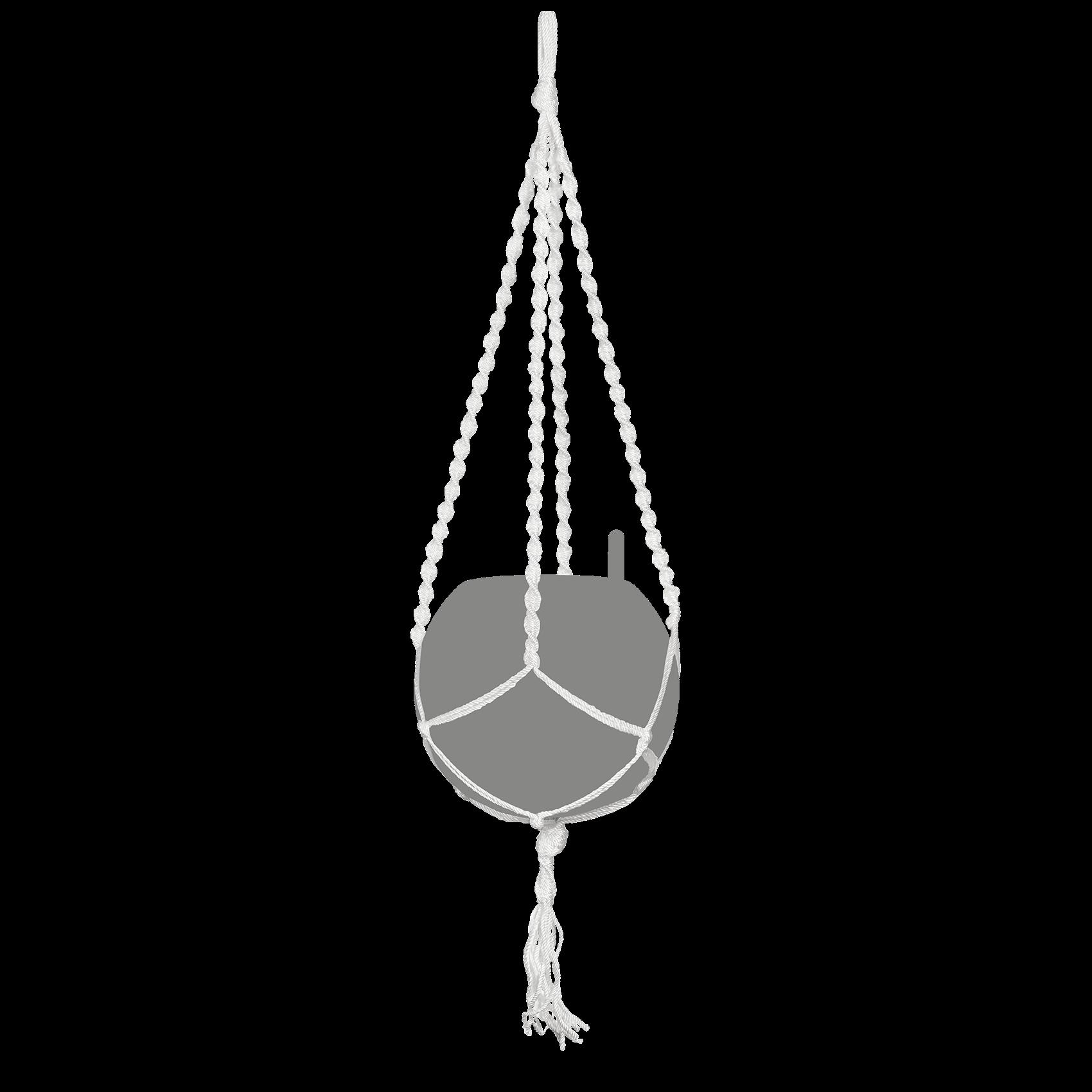 Sospensione in Macramè YULA blanco