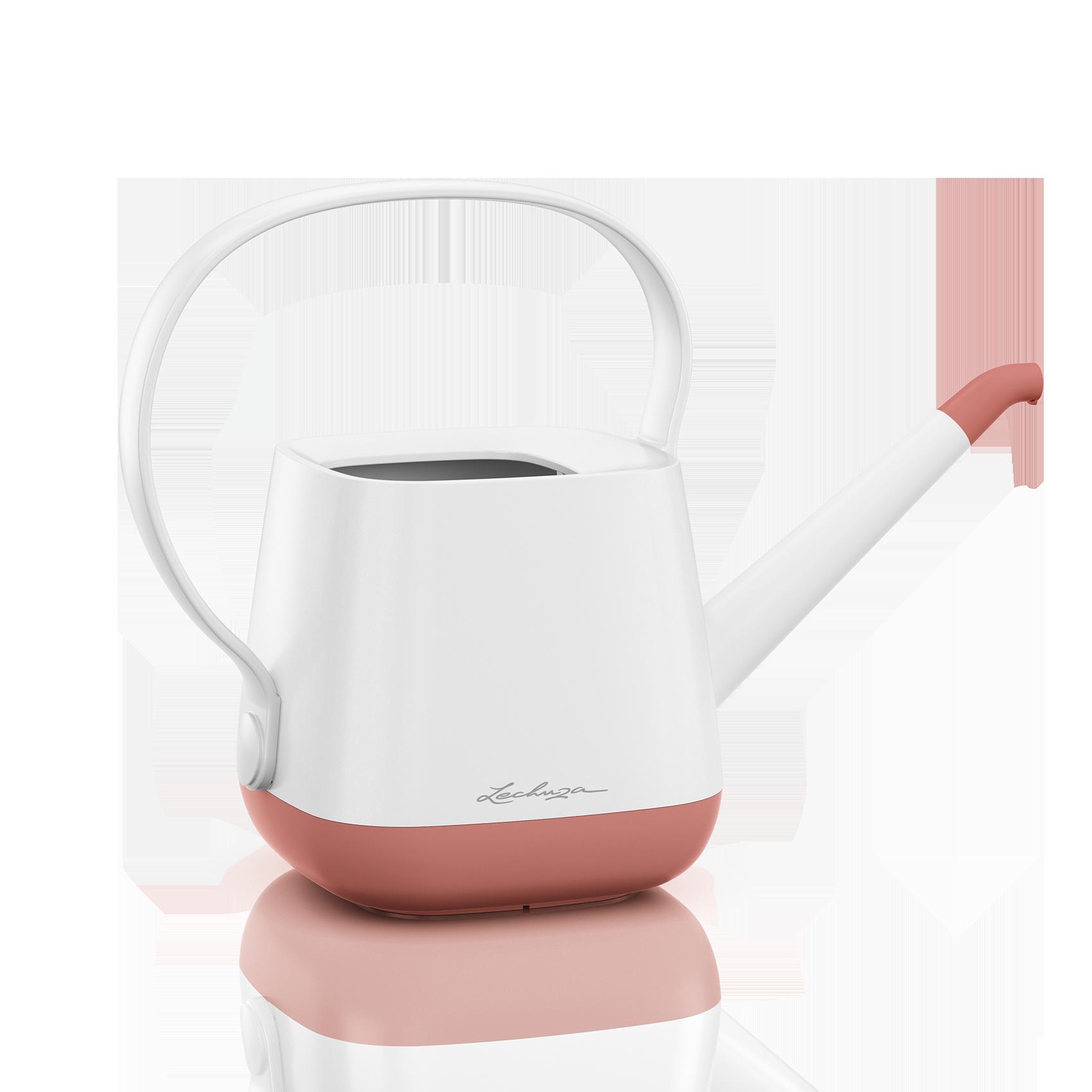 Arrosoir YULA blanc/rose poudré satiné