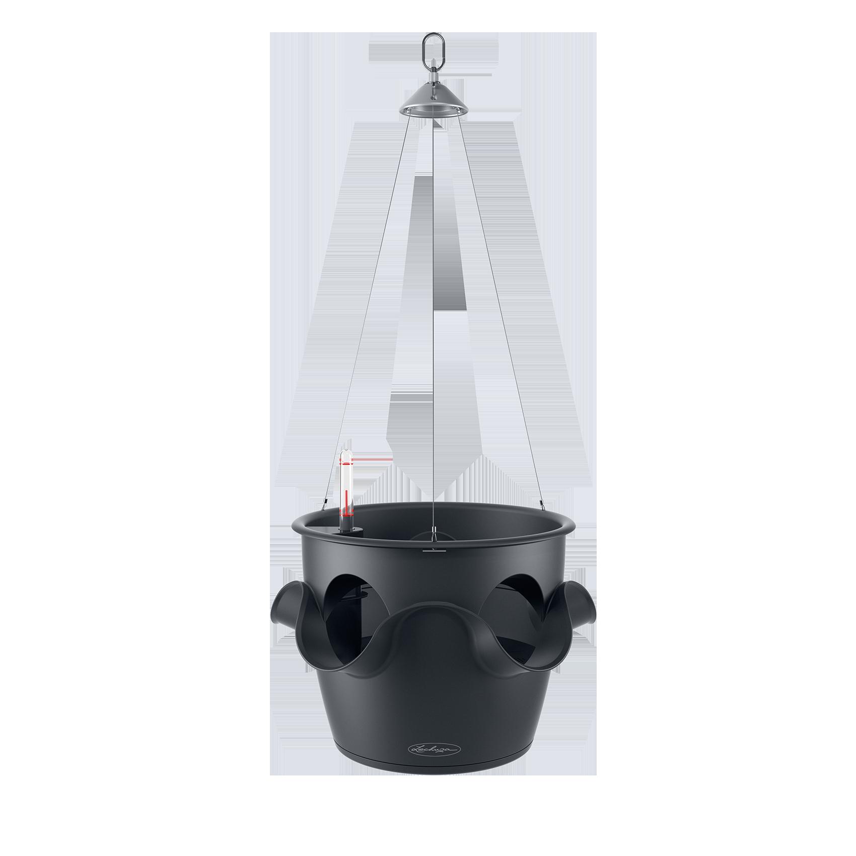 CASCADINO Color Maceta con colgante individual gris pizarra