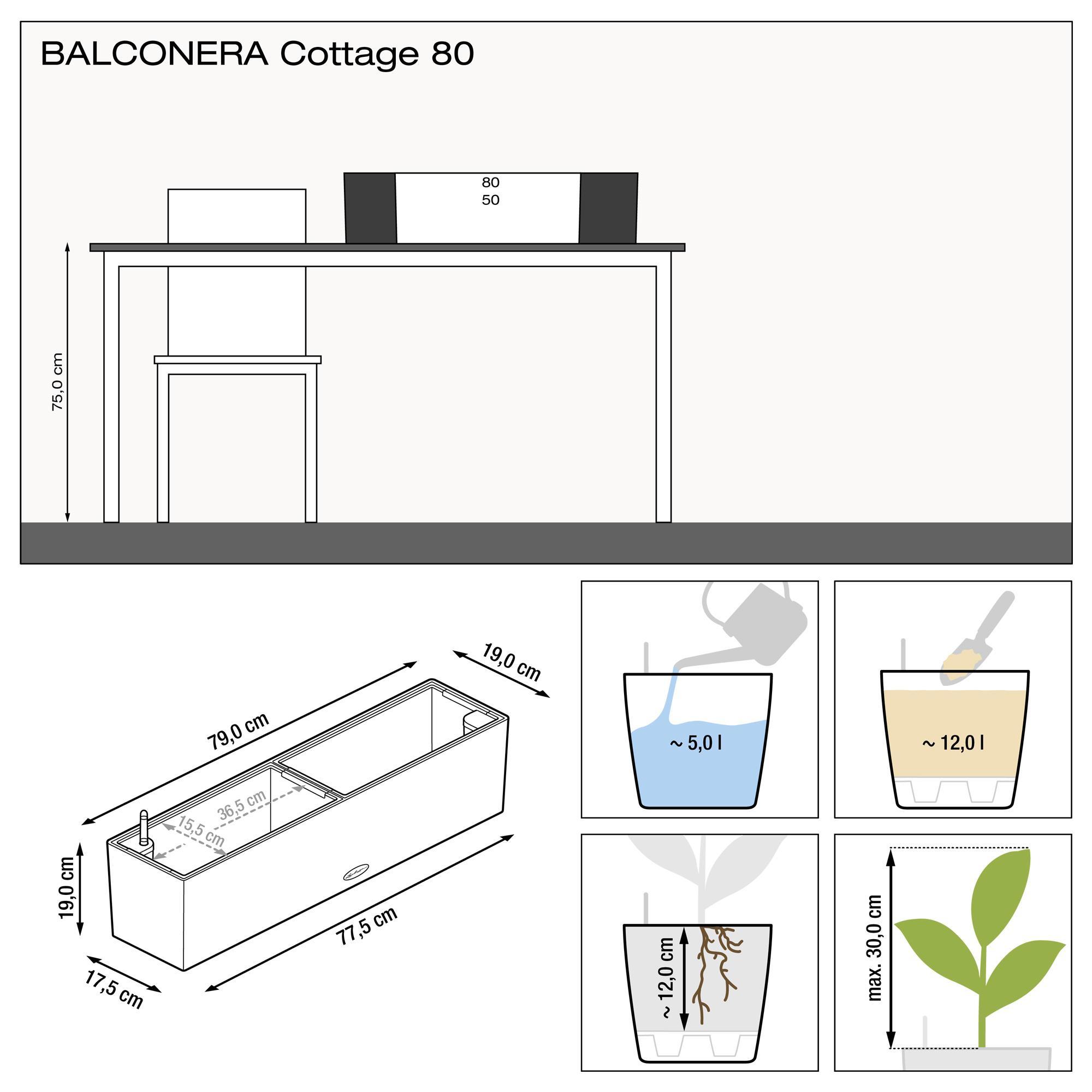 BALCONERA Cottage 80 granit - Bild 3