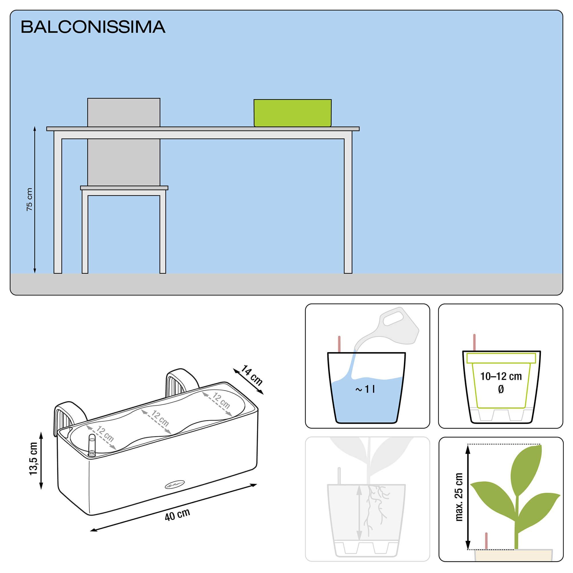 BALCONISSIMA Color weiß - Bild 2