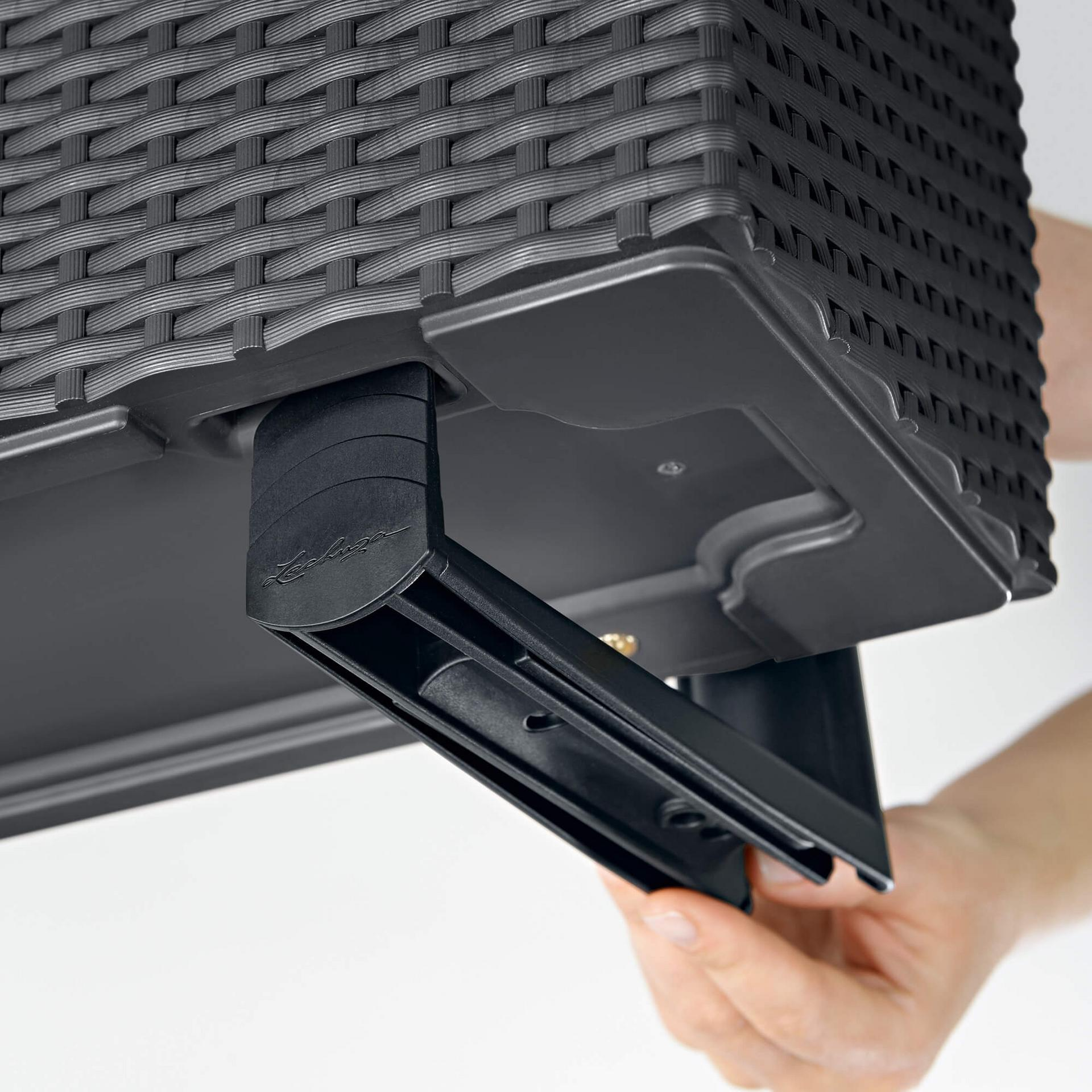 lechuza balkonkastenhalter schwarz. Black Bedroom Furniture Sets. Home Design Ideas