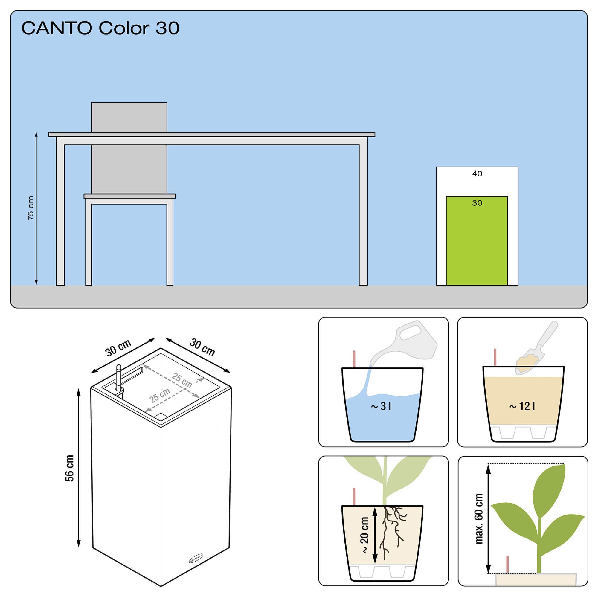 CANTO Color Colonne 30 noir graphite - Image 3