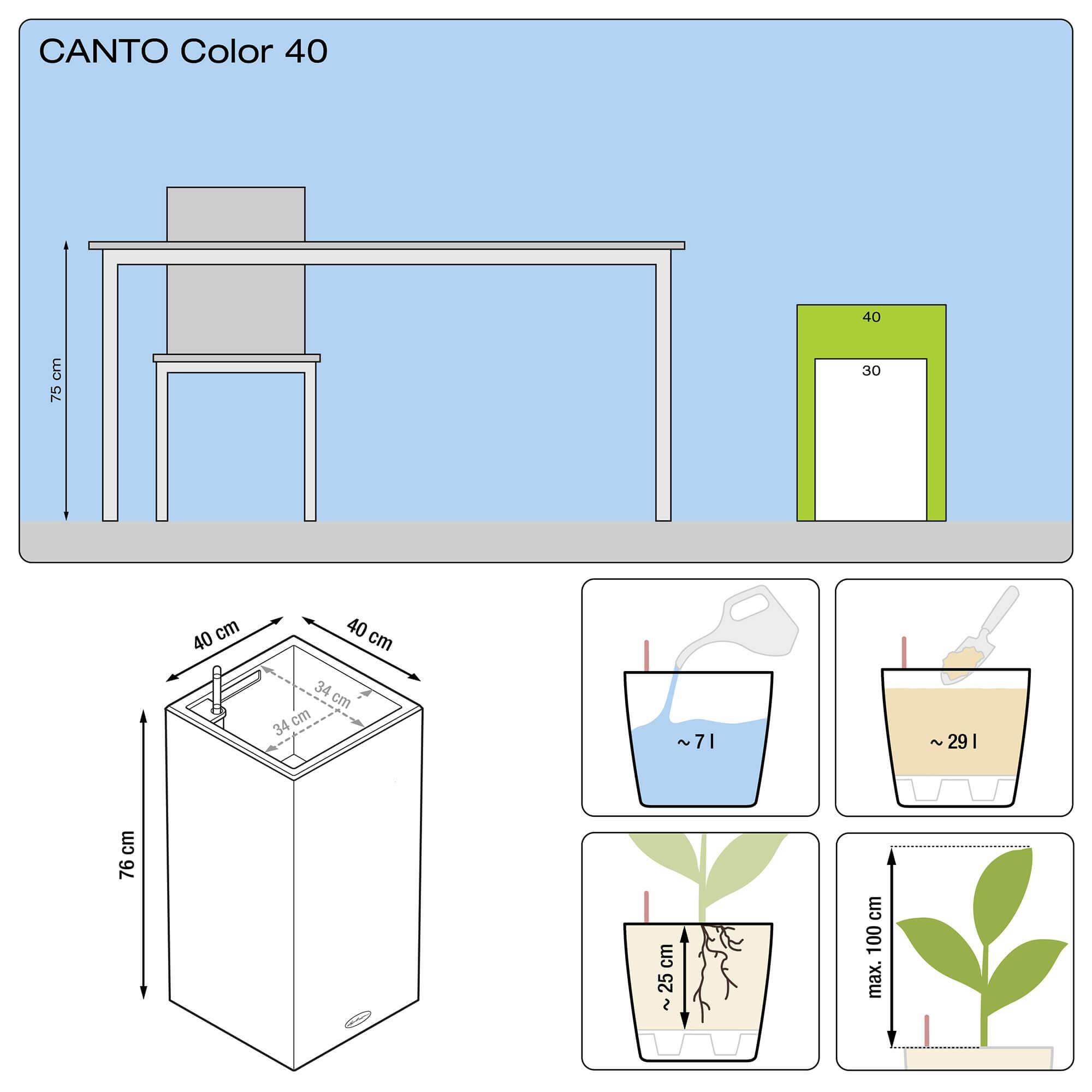 CANTO Color columna 40 beige arena - Imagen 3