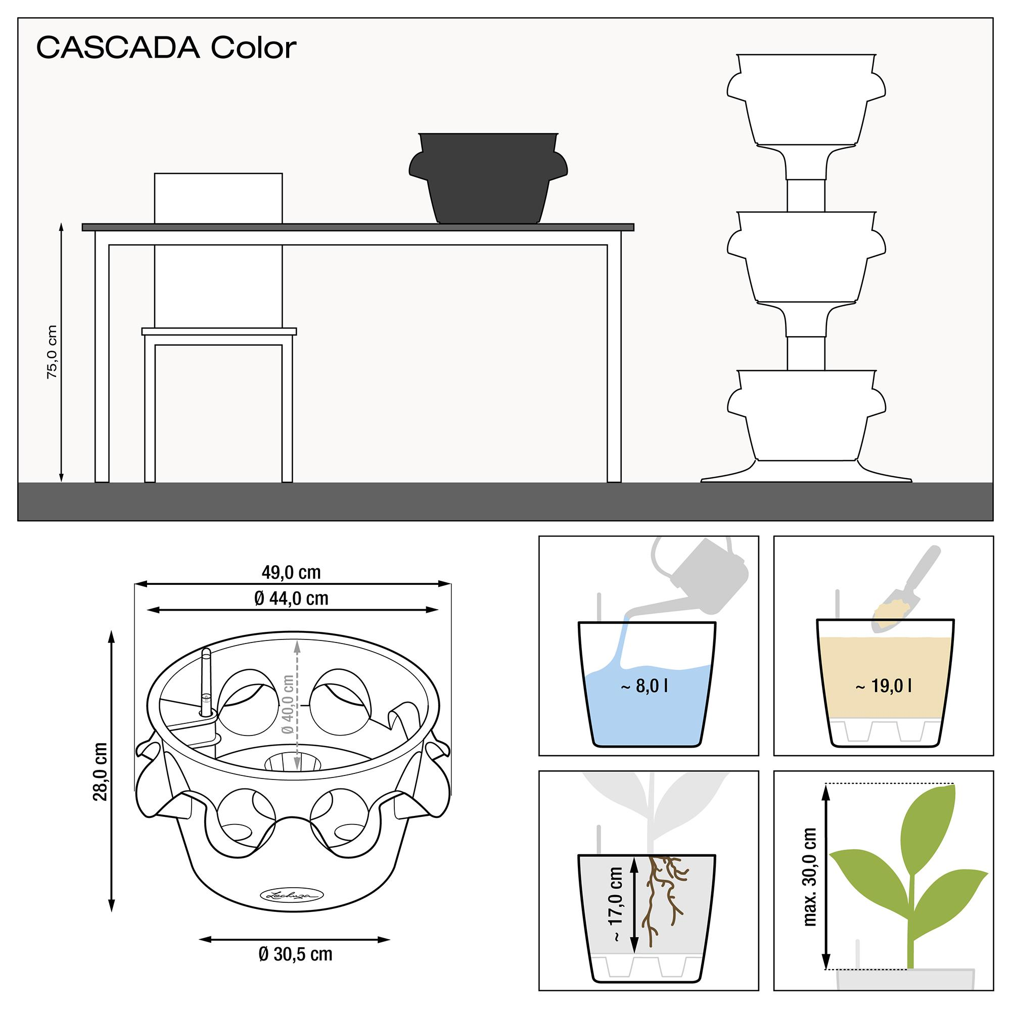 CASCADA Color gris ardoise - Image 2