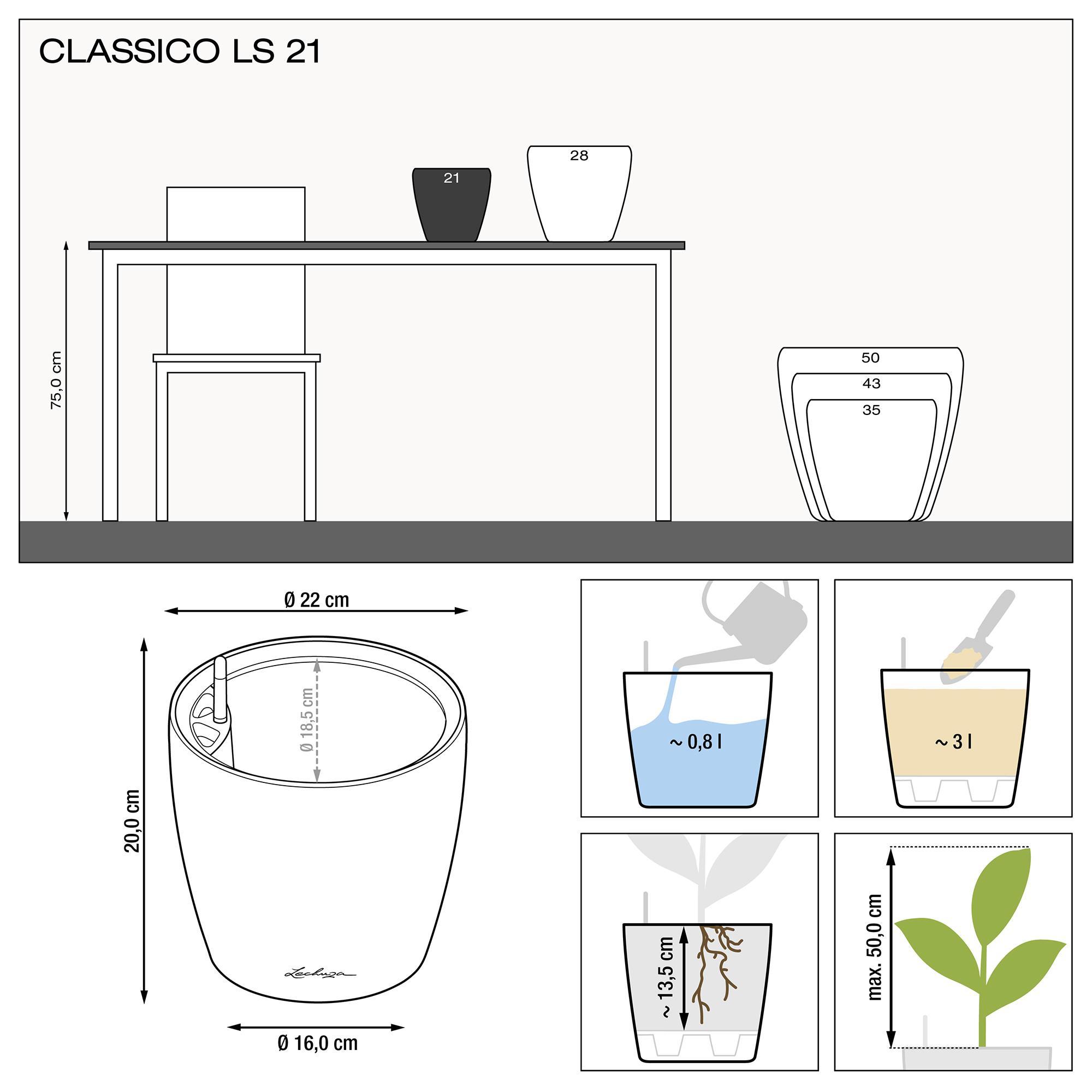 CLASSICO LS 21 weiß hochglanz - Bild 3