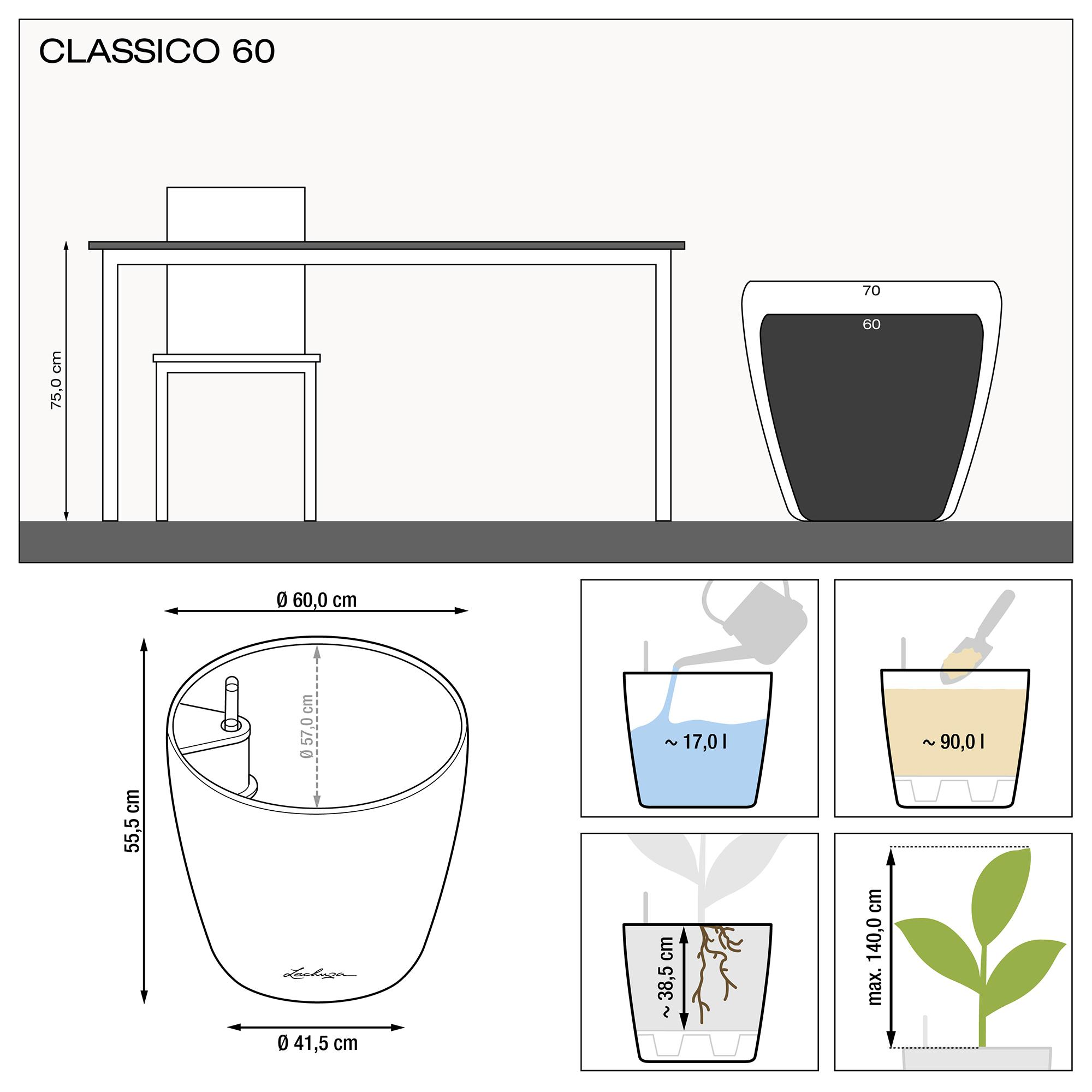 CLASSICO 60 espresso metallic - Image 1