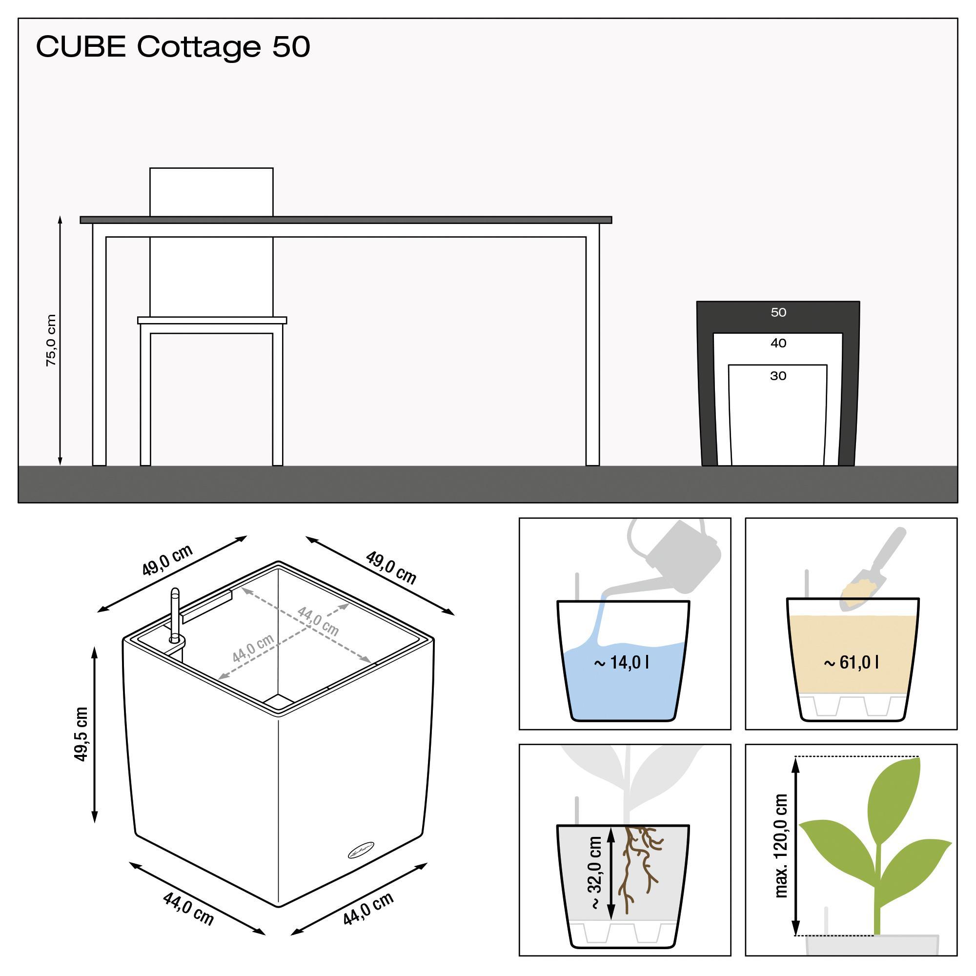 CUBE Cottage 50 mokka - Bild 3