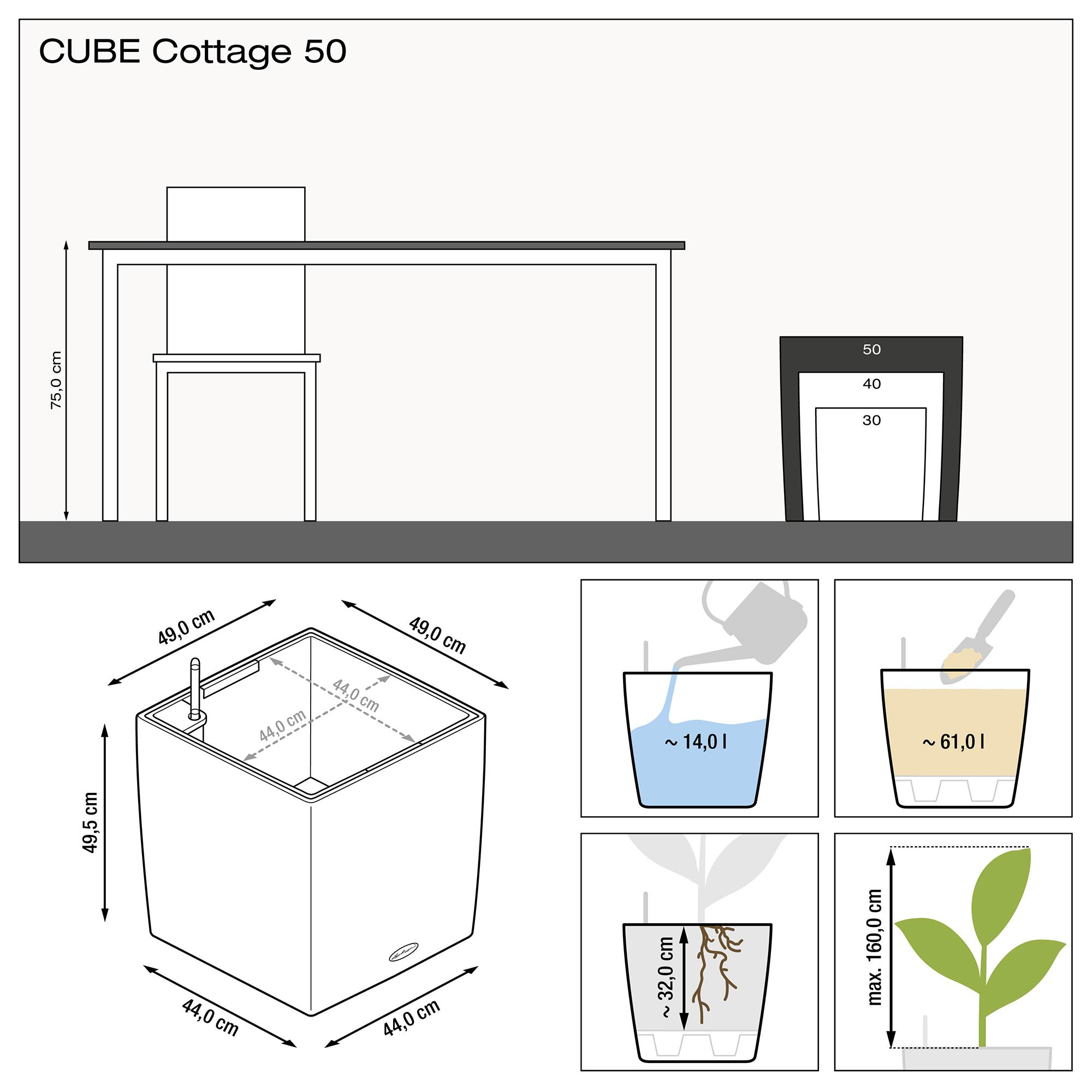 CUBE Cottage 50 blanco - Imagen 3