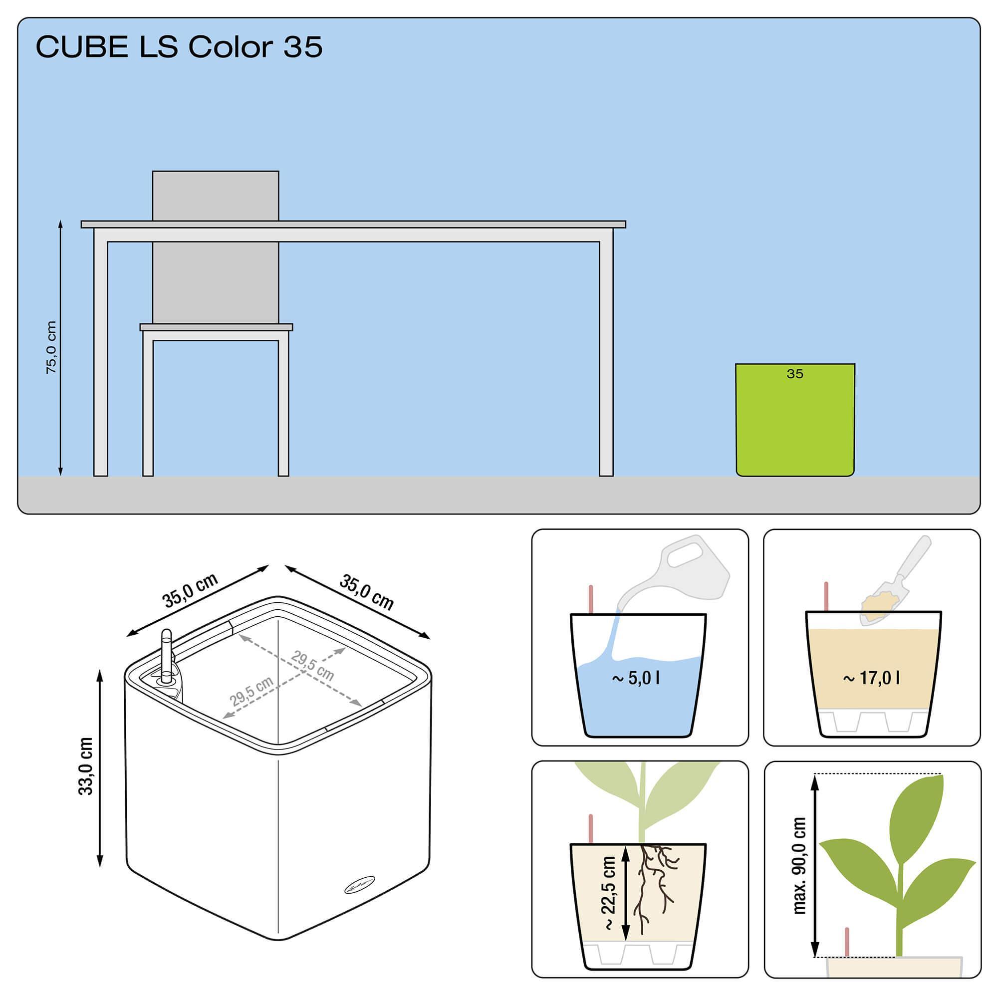 CUBE LS Color 35 blanco - Imagen 3
