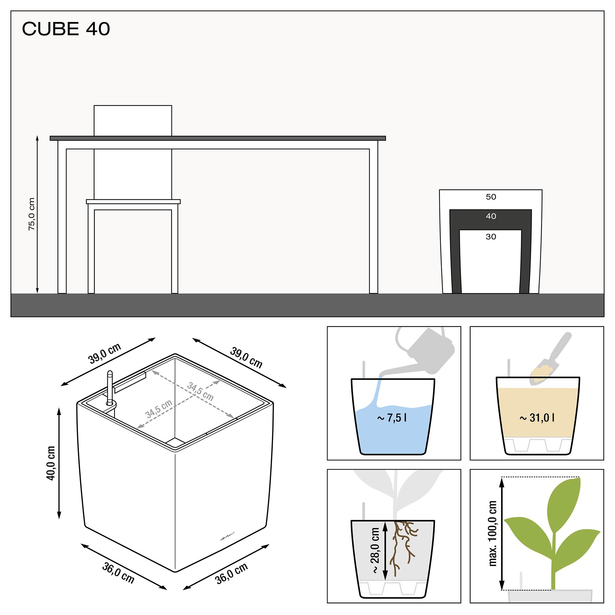 CUBE 40 weiß hochglanz - Bild 3