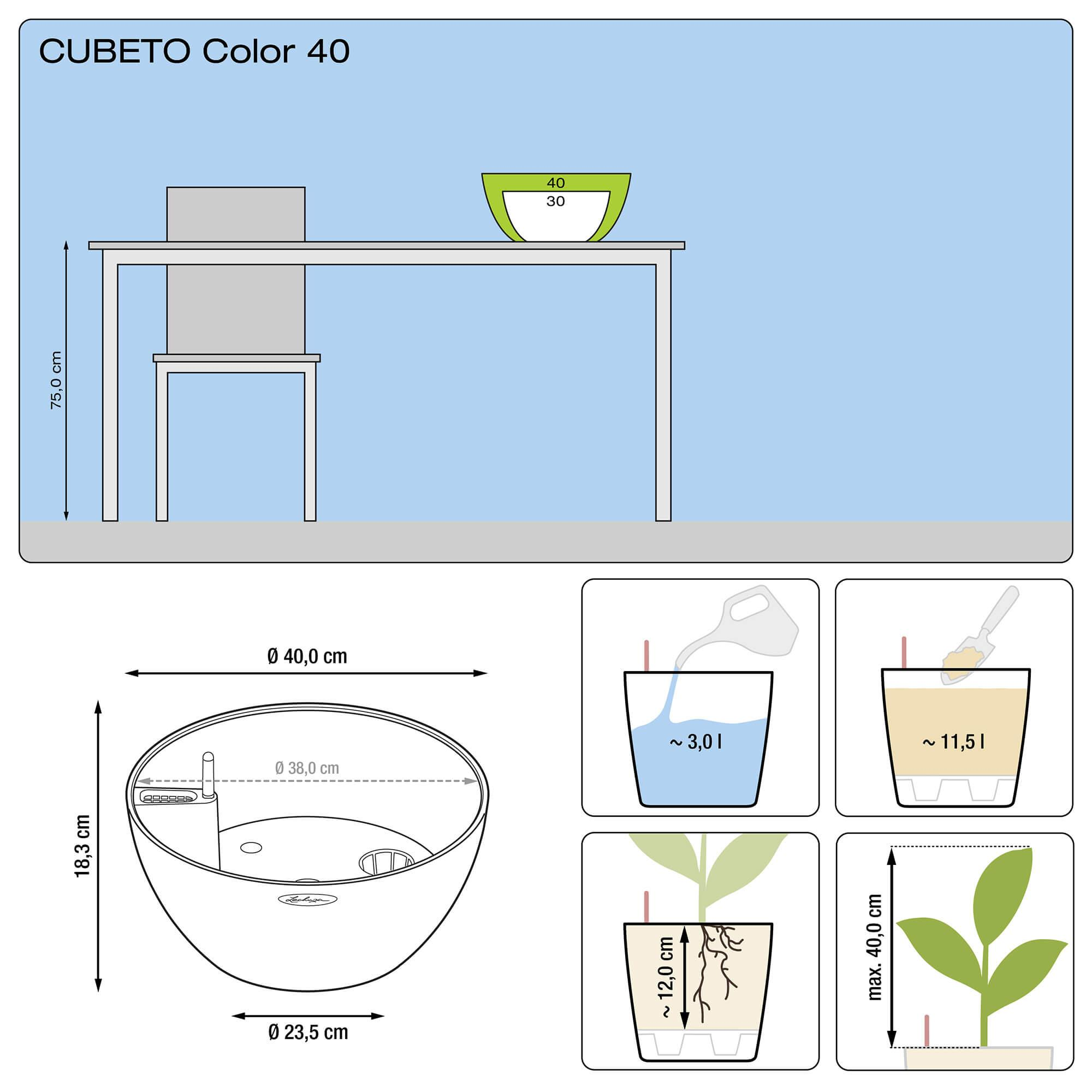 CUBETO Color 40 steingrau - Bild 2