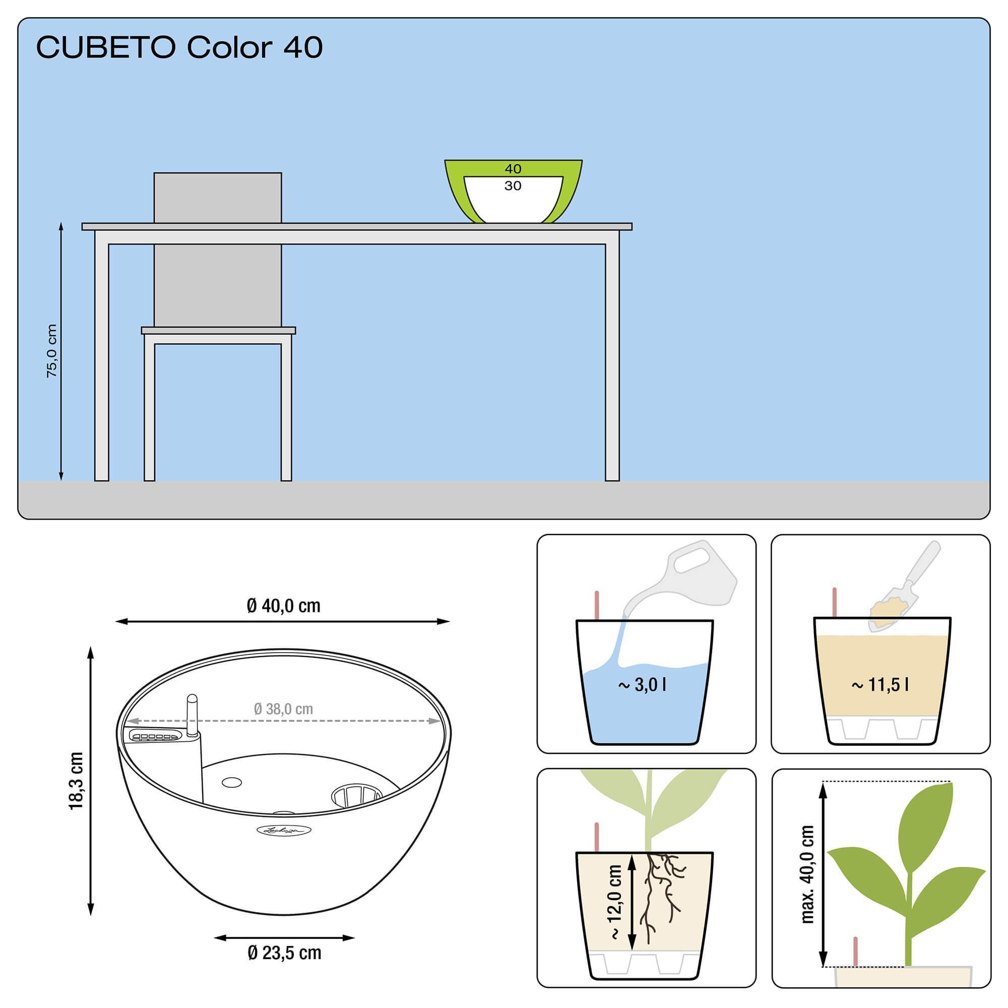 CUBETO Color 40 серый камень - изображение 2