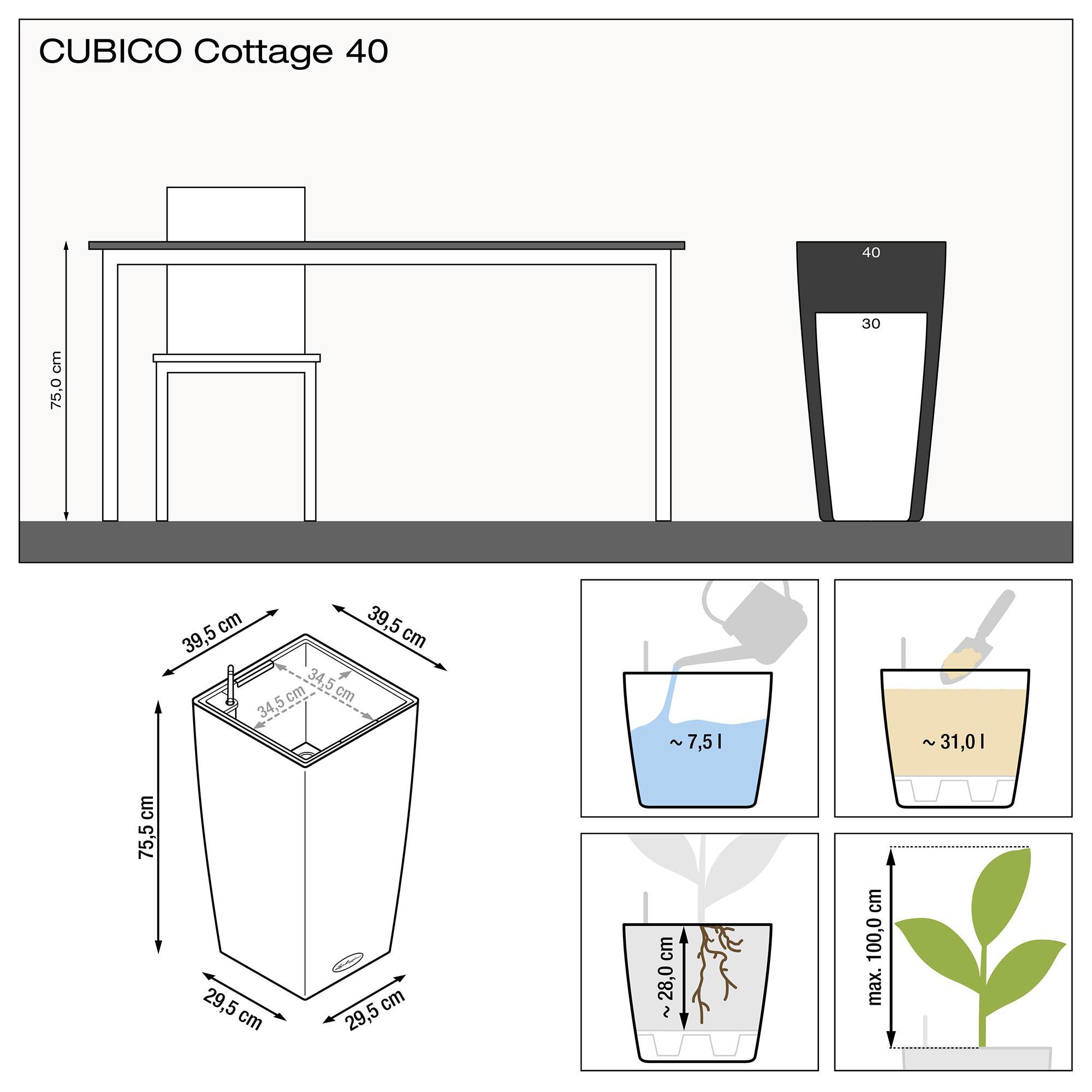 CUBICO Cottage 40 weiß - Bild 3
