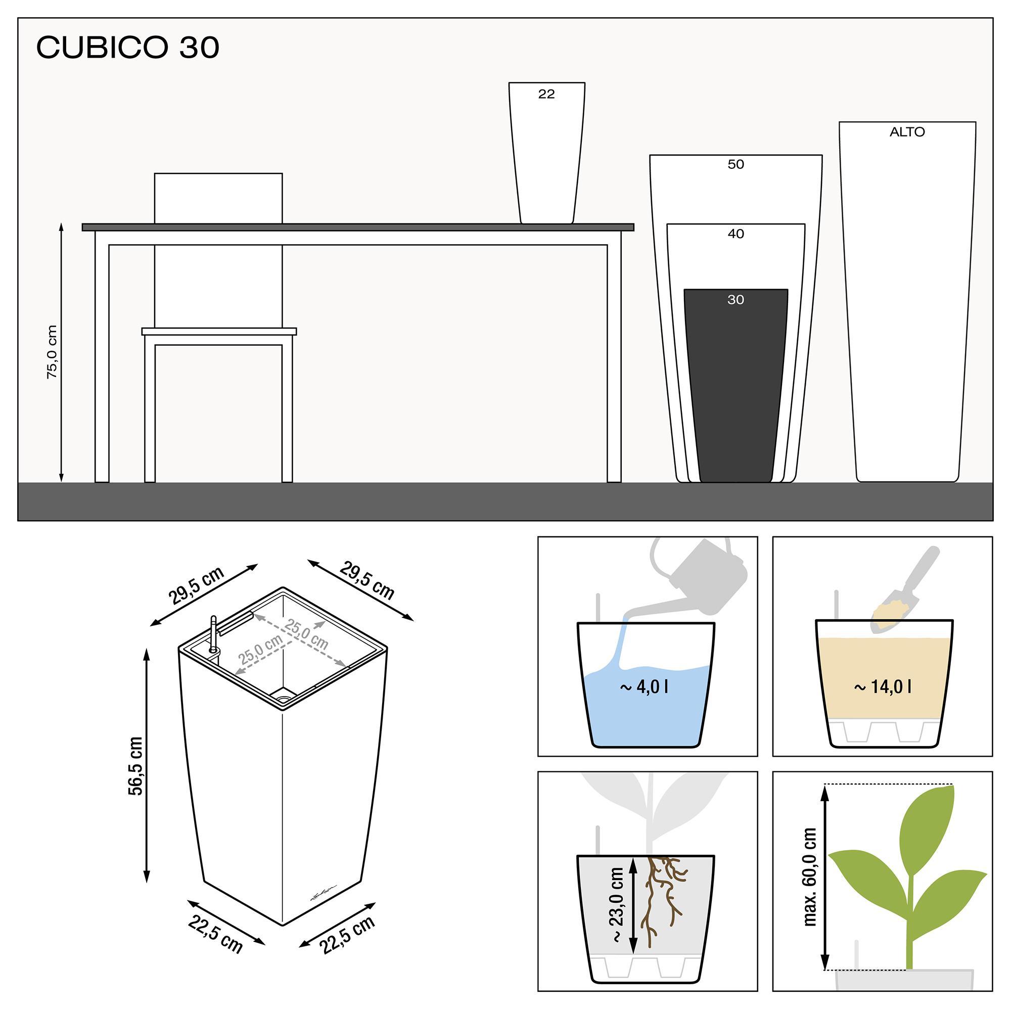 CUBICO 30 blanc brillant - Image 3