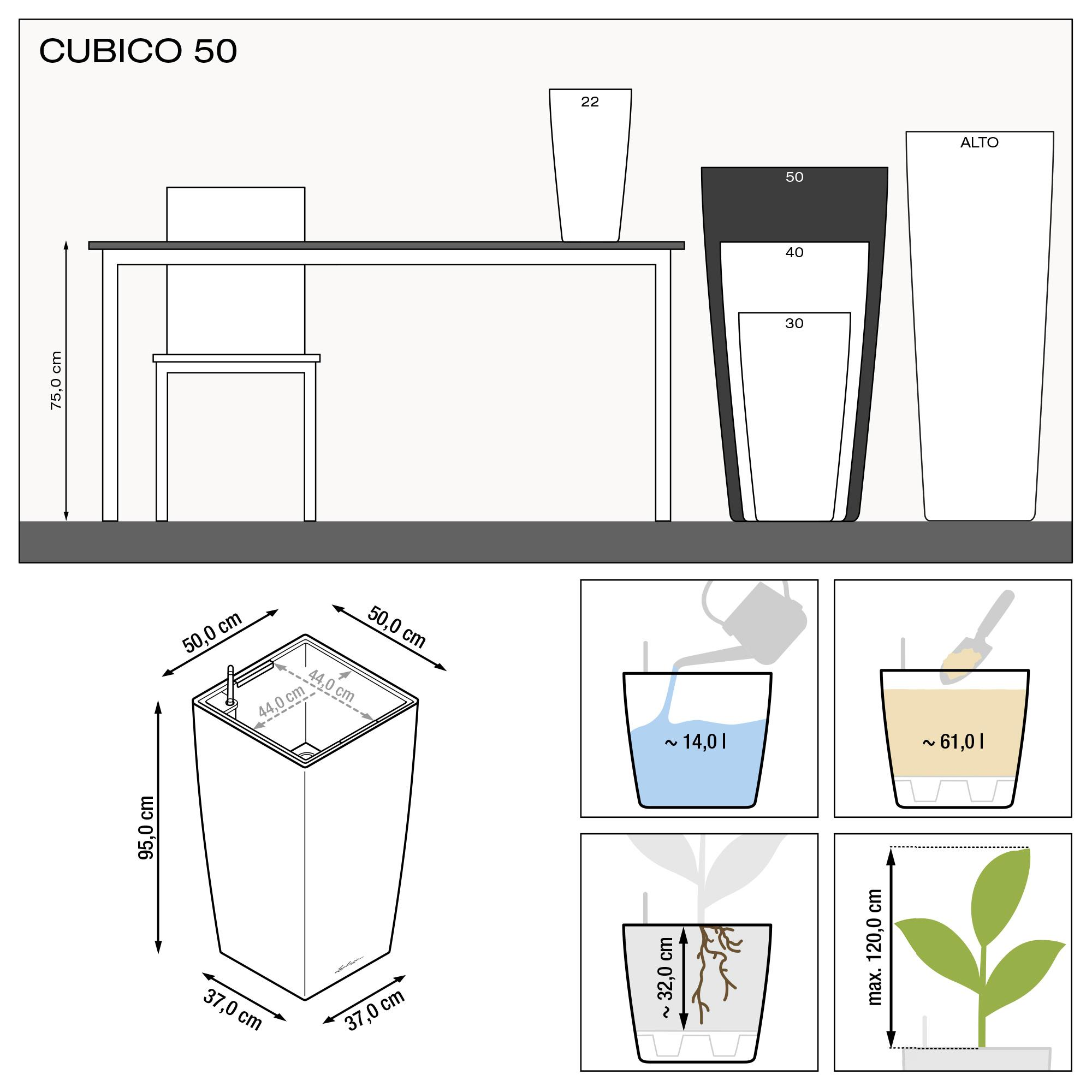 CUBICO 50 taupe hochglanz - Bild 3