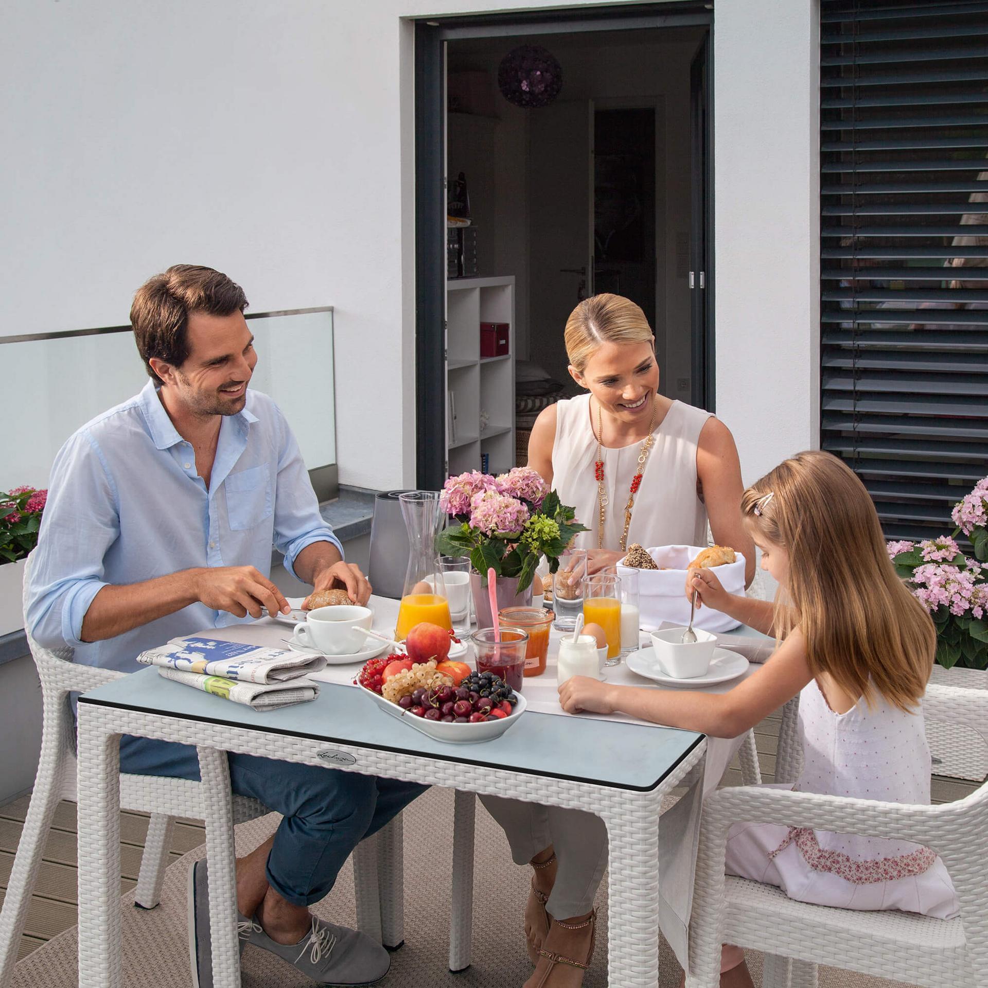Tavolo da pranzo piccolo con piano in hpl granito for Tavolo da pranzo piccolo