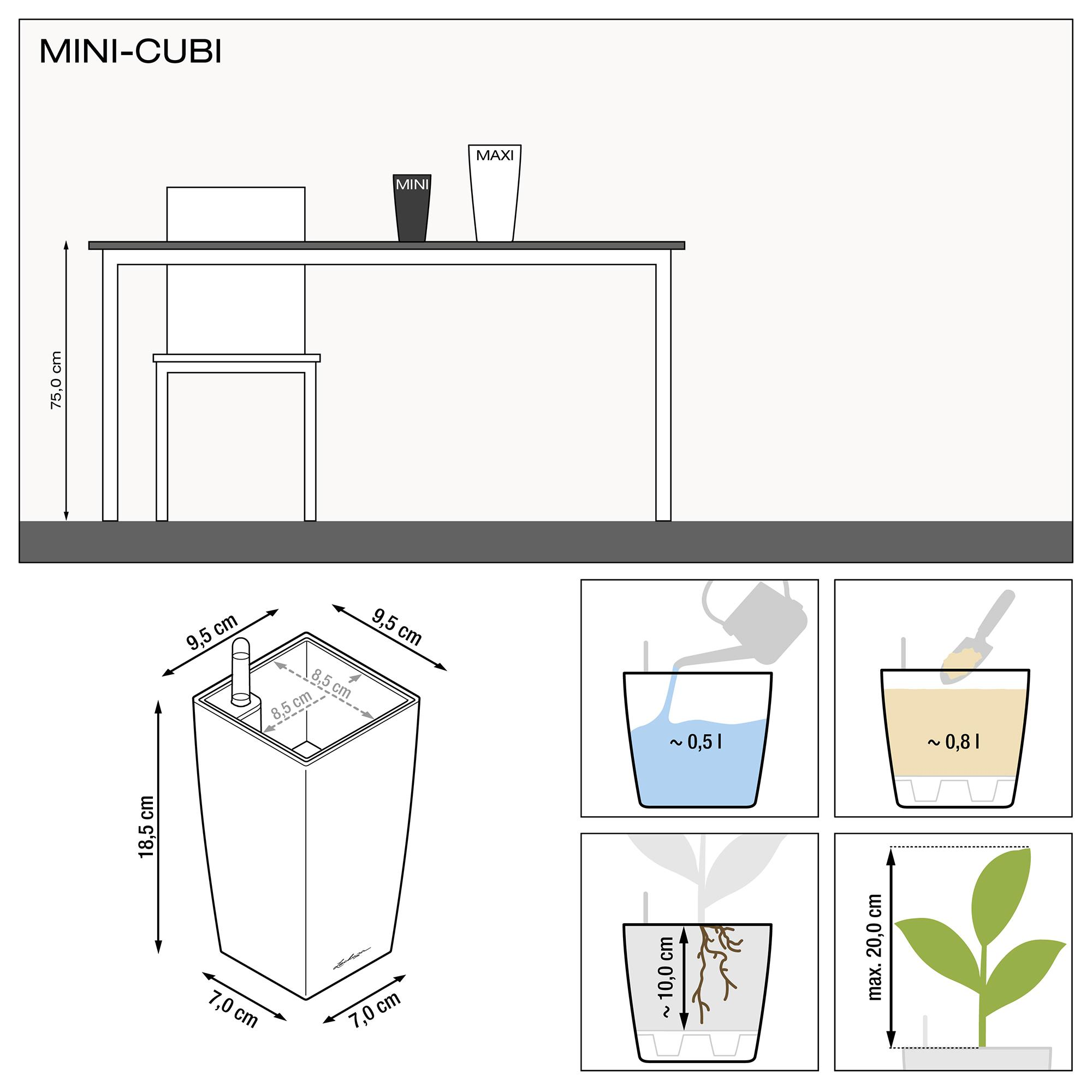 MINI-CUBI weiß hochglanz - Bild 3