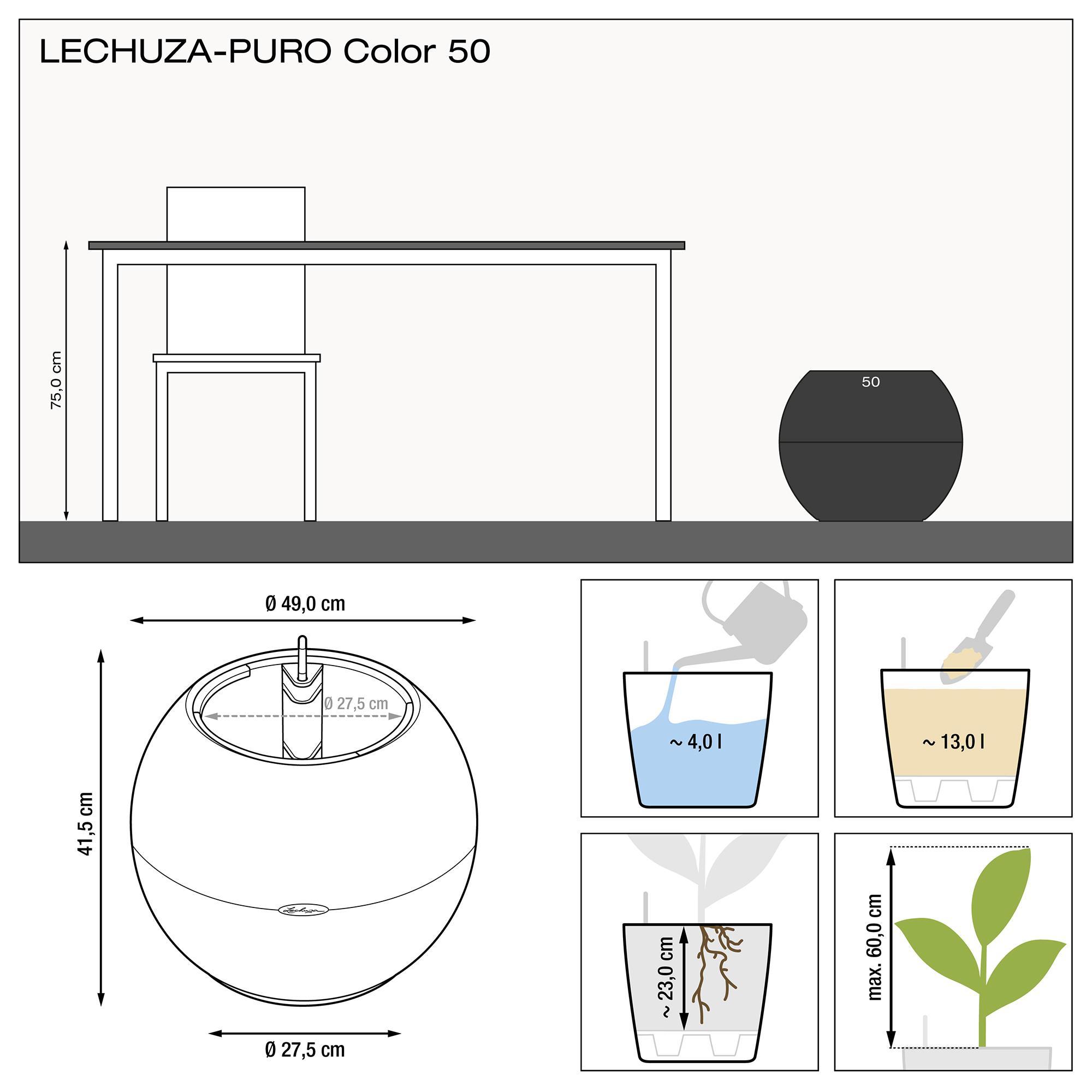 LECHUZA-PURO Color 50 white - Image 3