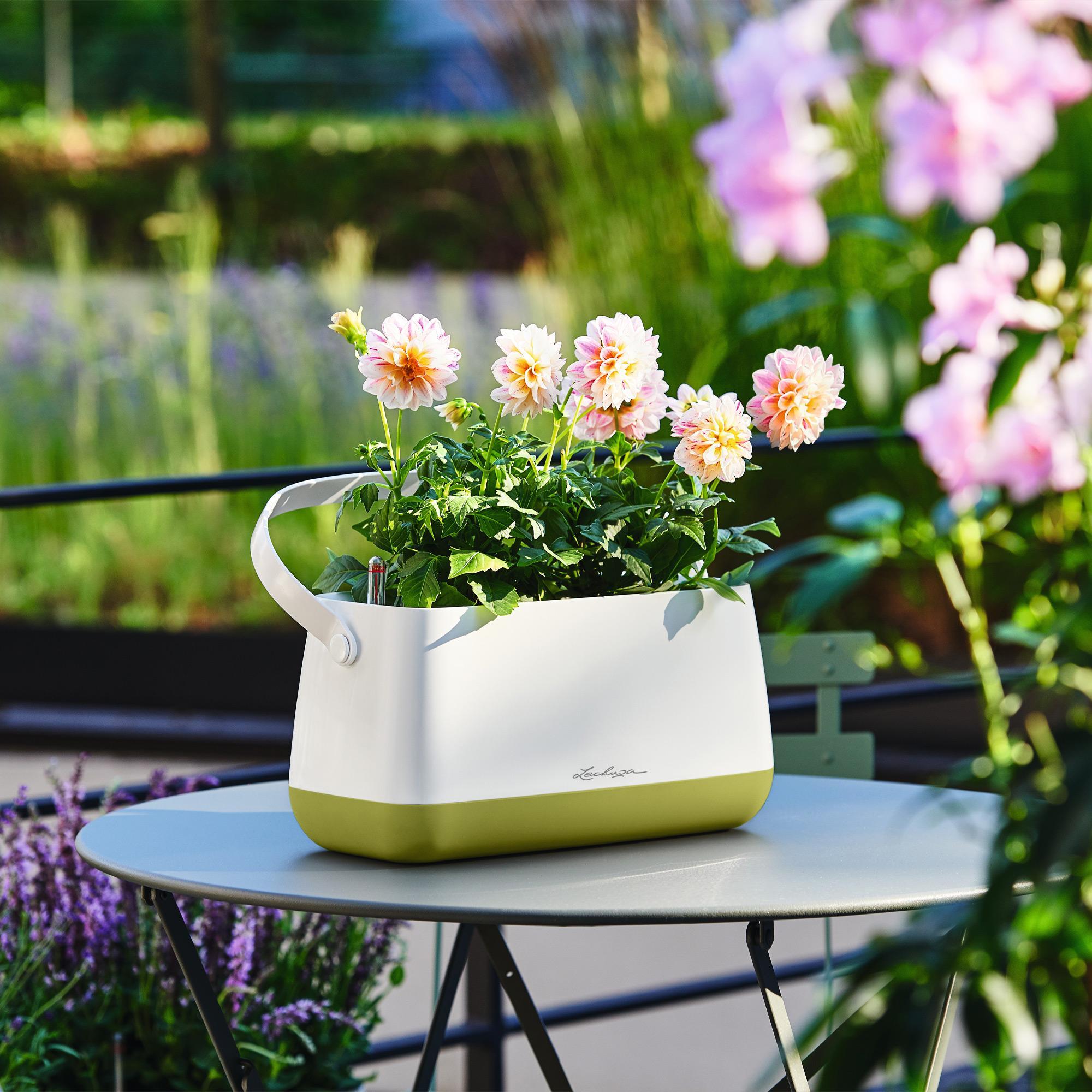 YULA plant bag white/gray semi-gloss - Image 8