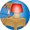 """5331-A featureimage Les lampes fonctionnent (Nécessite 3 piles 1.5V """"AAA"""" non fournies)"""