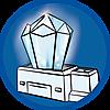 9469 featureimage Lichtgevende kristal met wisselend gekleurd licht (3 microbatterijen van 1,5V nodig)