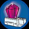 9470 featureimage Lichtgevende kristal met wisselend gekleurd licht (3 microbatterijen van 1,5V nodig)