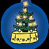 9495 featureimage avec éclairage pour sapin de Noël (2piles micro 1,5V requises)